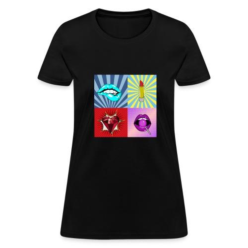 Makeup popart - Women's T-Shirt