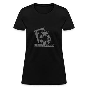 Turbokingslogo_b/w - Women's T-Shirt