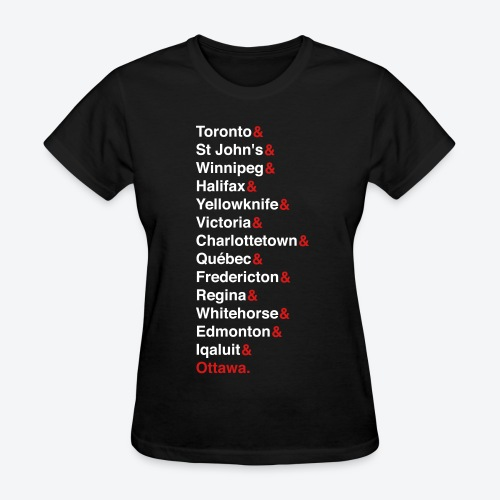 Canada's Capitals - Red & White - Women's T-Shirt