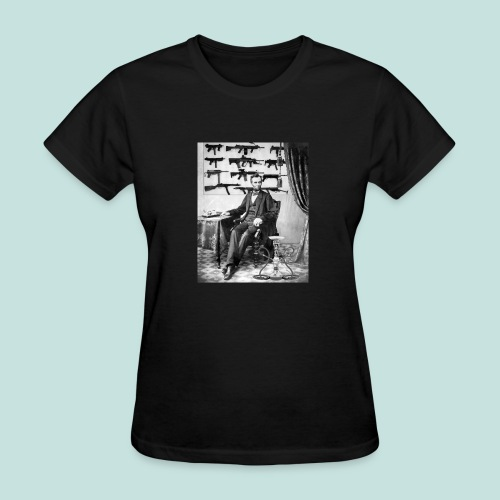 Strapped Abe - Women's T-Shirt