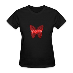 BUTTERFLY WORD RED - Women's T-Shirt