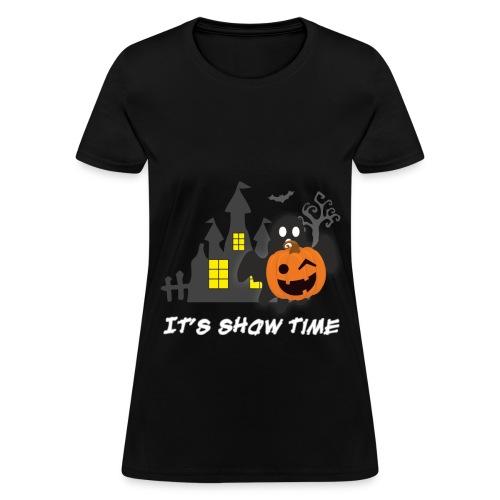 funny pumpkin constume, happy halloween day - Women's T-Shirt