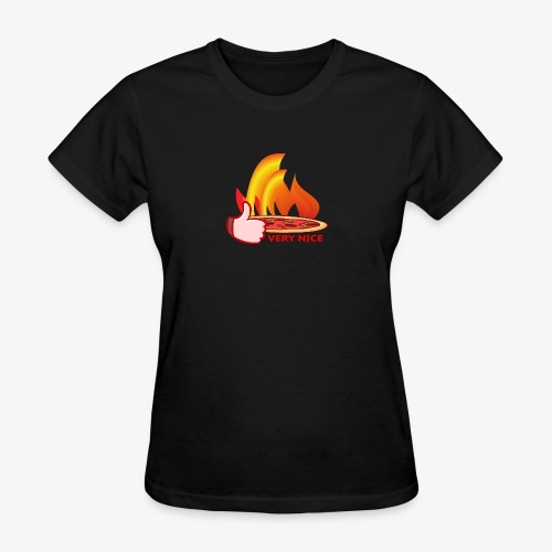 Pizza Wood-Fired Thumbs Up Very Nice Pizza - Women's T-Shirt