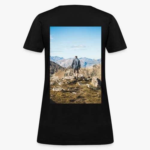 man hiking - Women's T-Shirt
