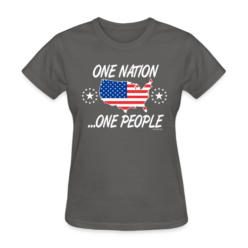 One Nation One People 2012 FRONT TRANSPARENT BACKG - Women's T-Shirt
