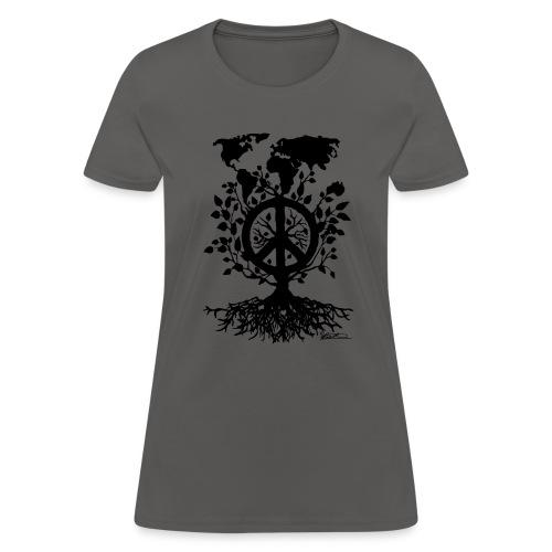 WORLD ROUND PEACE TREE - Women's T-Shirt