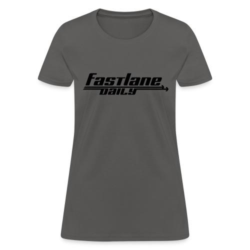 Fast Lane Daily logo - Women's T-Shirt