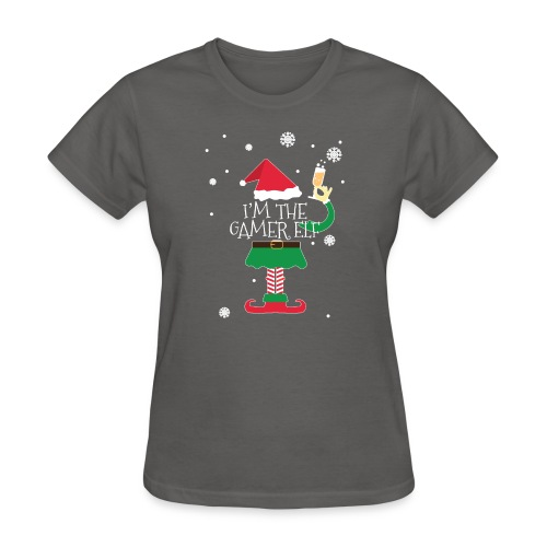 Im the gamer Elf Funny Christmas T-Shirt Gift - Women's T-Shirt