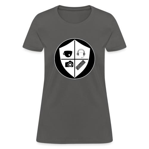 Punk Who Drinks Tea Crest (Inverted) - Women's T-Shirt