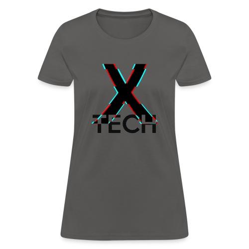 X-Tech Logo - Black - Women's T-Shirt