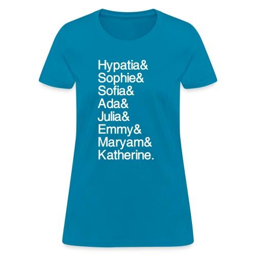 Women in Mathematics (no space before &) - Women's T-Shirt