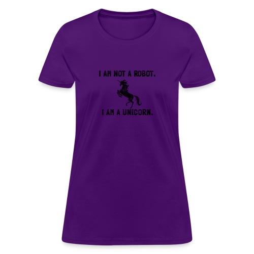 unicorn tall black - Women's T-Shirt