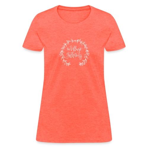 The Village Gathering // White Logo - Women's T-Shirt