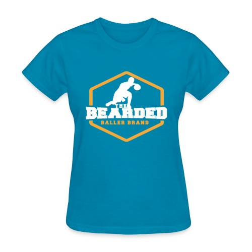 The Bearded Baller Brand White and Gold - Women's T-Shirt