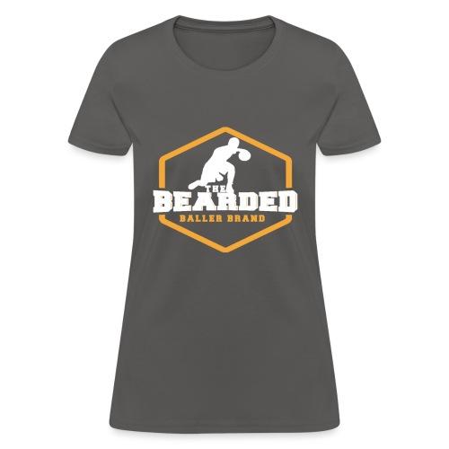 The Bearded Baller Brand White and Gold - Women's T-Shirt