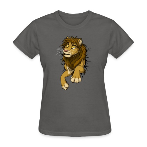 STUCK Lion (black cracks) - Women's T-Shirt
