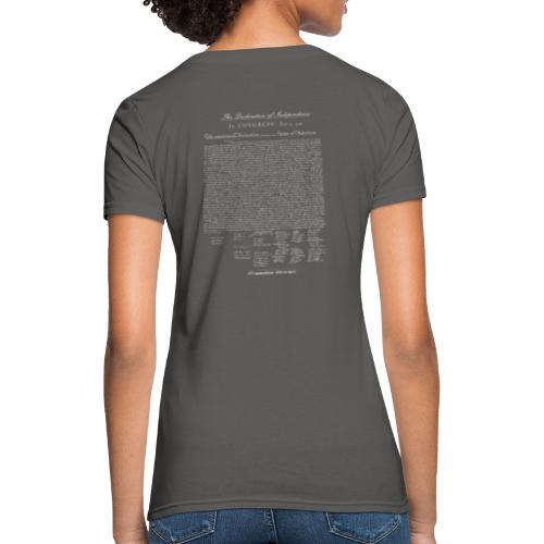 Declaration of Independence Grey Lettering - Women's T-Shirt