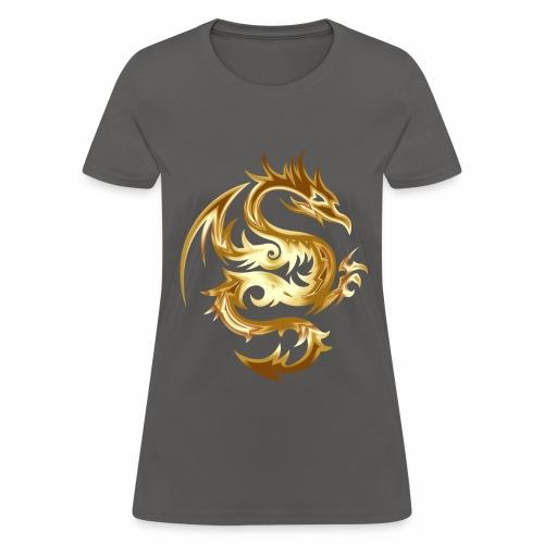 Abstract golden dragon - Women's T-Shirt