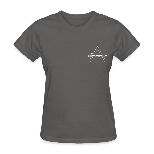 Double triangles in white - Women's T-Shirt