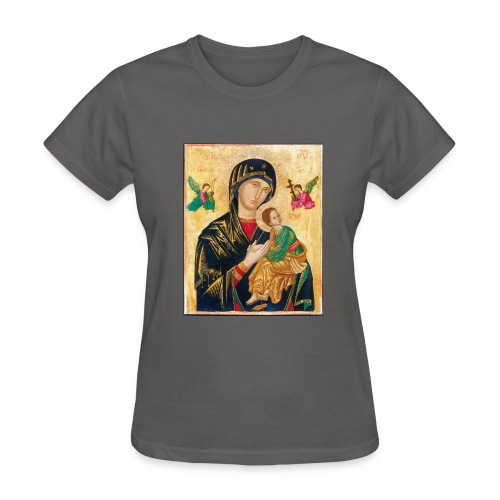 Icon of the Virgin Mary with baby Jesus - Women's T-Shirt