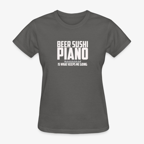 BEER SUSHI PIANO T-SHIRT - Women's T-Shirt