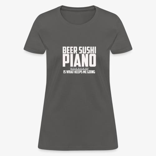 BEER SUSHI PIANO T-SHIRT - Women's T-Shirt