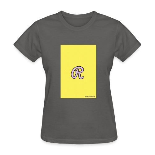 Pink R for Ryaun - Women's T-Shirt