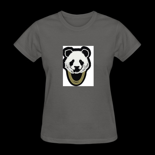 A fly panda with a gold chain - Women's T-Shirt