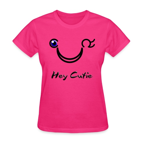 Hey Cutie Blue Eye Wink - Women's T-Shirt