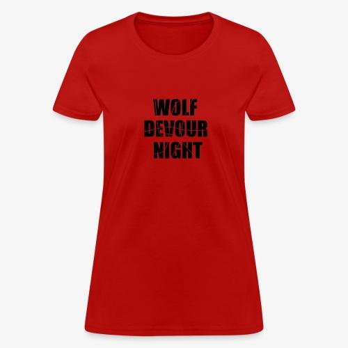Wolf Devour Night - Women's T-Shirt