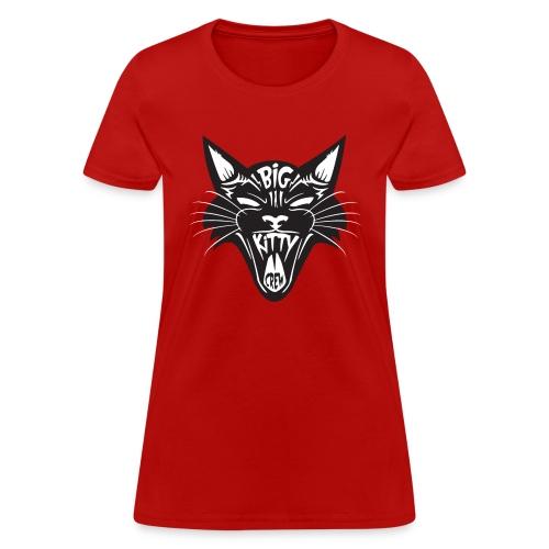 Big Kitty-Screaming Cat - Women's T-Shirt