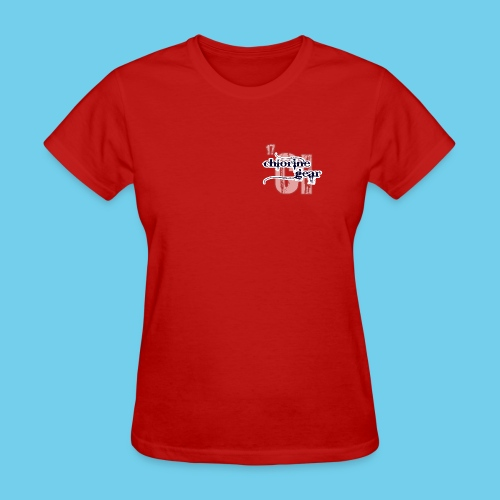 Large Chlorine Gear Relief background Logo - Women's T-Shirt