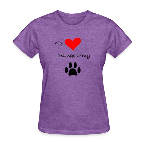 Dog Lovers shirt - My Heart Belongs to my Dog - Women's T-Shirt