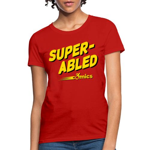 Super-Abled Comics - yellow/black - Women's T-Shirt