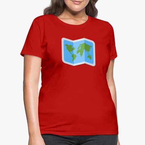 Awesome artsy Earth map - Women's T-Shirt