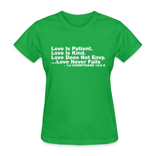 Love Bible Verse - Women's T-Shirt