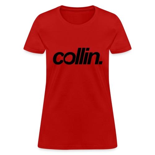 Collin. (Black w/ Rose) - Women's T-Shirt