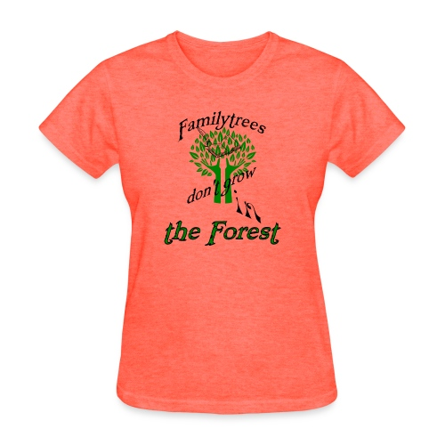 genealogy family tree forest funny birthday gift - Women's T-Shirt