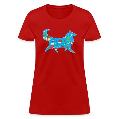 Collie Christmas - Women's T-Shirt