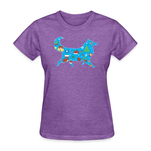 Collie Christmas - Women's T-Shirt