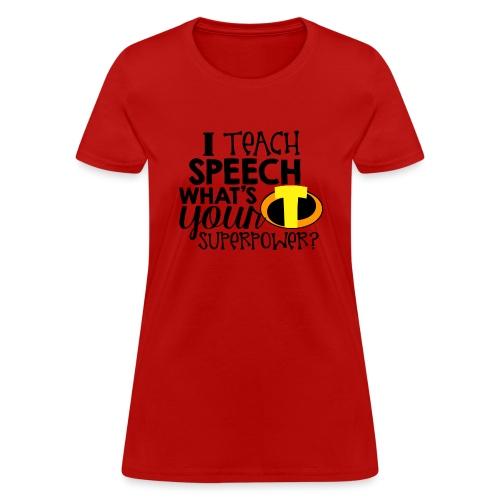 I Teach Speech What's Your Superpower - Women's T-Shirt