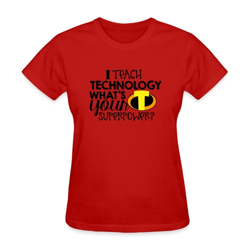I Teach Technology What's Your Superpower Teacher - Women's T-Shirt
