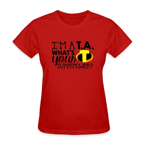 I'm a Teacher's Assistant What's Your Superpower - Women's T-Shirt