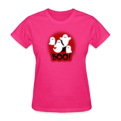 Ghosties Boo Happy Halloween 9 - Women's T-Shirt