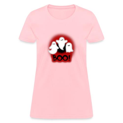 Ghosties Boo Happy Halloween 7 - Women's T-Shirt