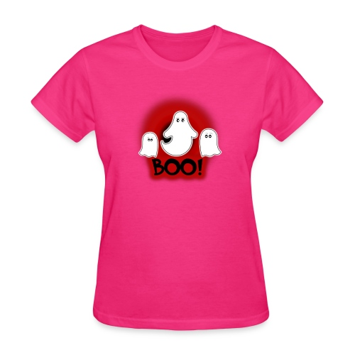 Ghosties Boo Happy Halloween 6 - Women's T-Shirt