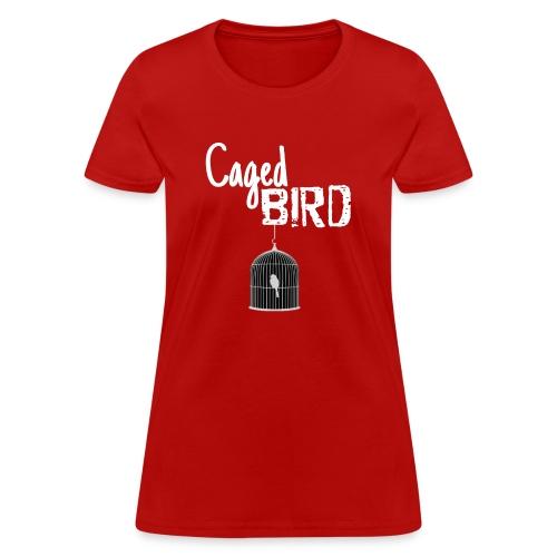 Caged Bird Abstract Design - Women's T-Shirt