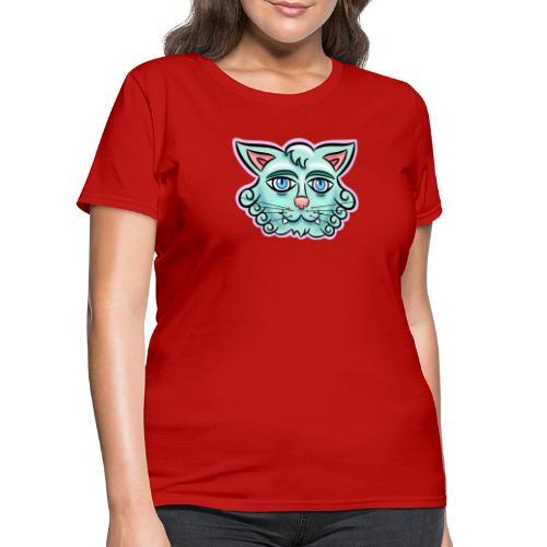 Happy Cat Teal - Women's T-Shirt