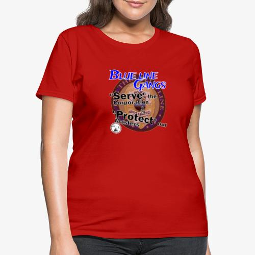 Thin Blue Line - To Serve and Protect - Women's T-Shirt