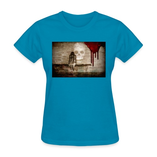 sad girl - Women's T-Shirt